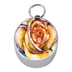 Abstract Rose Mini Silver Compasses