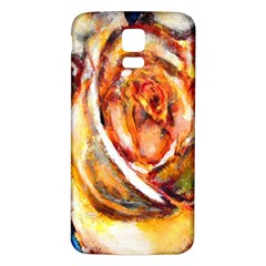 Abstract Rose Samsung Galaxy S5 Back Case (white)