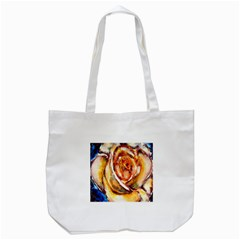 Abstract Rose Tote Bag (White)