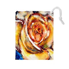 Abstract Rose Drawstring Pouches (Large)