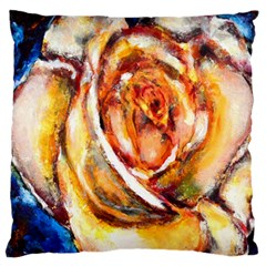 Abstract Rose Large Flano Cushion Cases (Two Sides)