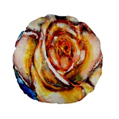 Abstract Rose Standard 15  Premium Flano Round Cushions