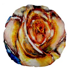 Abstract Rose Large 18  Premium Flano Round Cushions