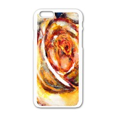 Abstract Rose Apple iPhone 6 White Enamel Case