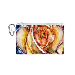 Abstract Rose Canvas Cosmetic Bag (S)