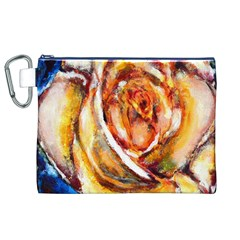 Abstract Rose Canvas Cosmetic Bag (XL)