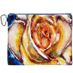 Abstract Rose Canvas Cosmetic Bag (XXXL)