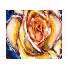 Abstract Rose Double Sided Flano Blanket (Large)