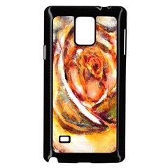 Abstract Rose Samsung Galaxy Note 4 Case (black)