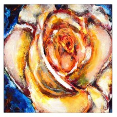 Abstract Rose Large Satin Scarf (square)