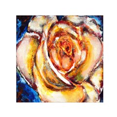 Abstract Rose Small Satin Scarf (Square)