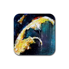 Abstract Space Nebula Rubber Square Coaster (4 Pack)