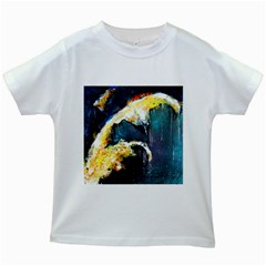 Abstract Space Nebula Kids White T-Shirts