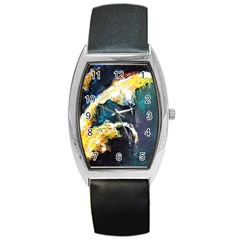 Abstract Space Nebula Barrel Metal Watches