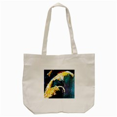 Abstract Space Nebula Tote Bag (Cream)