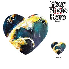 Abstract Space Nebula Playing Cards 54 (heart)