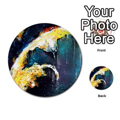 Abstract Space Nebula Multi-purpose Cards (Round)