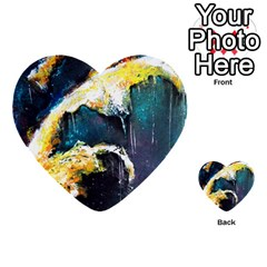 Abstract Space Nebula Multi-purpose Cards (Heart)
