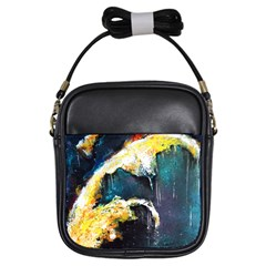 Abstract Space Nebula Girls Sling Bags