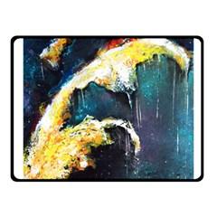 Abstract Space Nebula Fleece Blanket (Small)