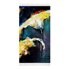 Abstract Space Nebula Shower Curtain 36  X 72  (stall)