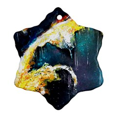 Abstract Space Nebula Ornament (Snowflake)