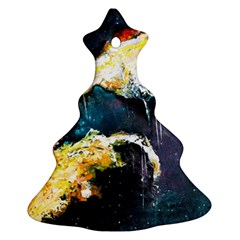 Abstract Space Nebula Ornament (Christmas Tree)
