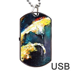 Abstract Space Nebula Dog Tag USB Flash (Two Sides)