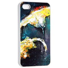 Abstract Space Nebula Apple Iphone 4/4s Seamless Case (white)