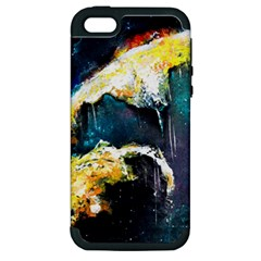 Abstract Space Nebula Apple Iphone 5 Hardshell Case (pc+silicone)
