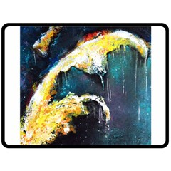 Abstract Space Nebula Double Sided Fleece Blanket (Large)