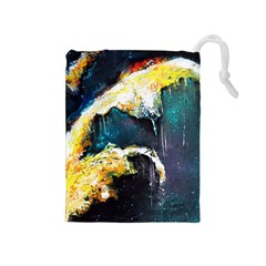 Abstract Space Nebula Drawstring Pouches (Medium)