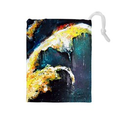 Abstract Space Nebula Drawstring Pouches (Large)