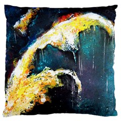 Abstract Space Nebula Large Flano Cushion Cases (Two Sides)