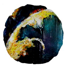 Abstract Space Nebula Large 18  Premium Flano Round Cushions