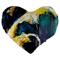 Abstract Space Nebula Large 19  Premium Flano Heart Shape Cushions