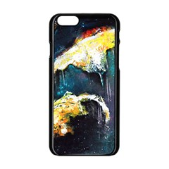 Abstract Space Nebula Apple iPhone 6 Black Enamel Case