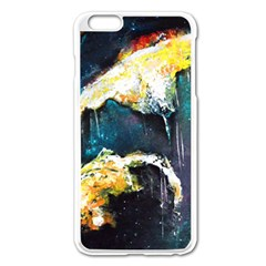 Abstract Space Nebula Apple iPhone 6 Plus Enamel White Case