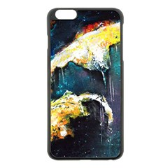 Abstract Space Nebula Apple iPhone 6 Plus Black Enamel Case