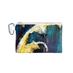 Abstract Space Nebula Canvas Cosmetic Bag (S)
