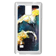 Abstract Space Nebula Samsung Galaxy Note 4 Case (White)