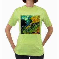 Landlines Women s Green T Shirt