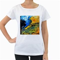 Landlines Women s Loose-Fit T-Shirt (White)