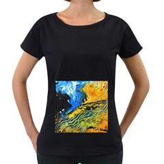 Landlines Women s Loose-Fit T-Shirt (Black)