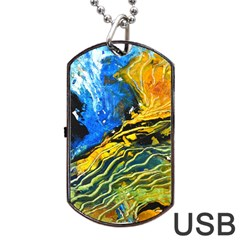 Landlines Dog Tag Usb Flash (two Sides)