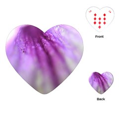 Purple Flower Pedal Playing Cards (Heart)