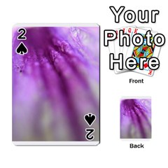 Purple Flower Pedal Playing Cards 54 Designs