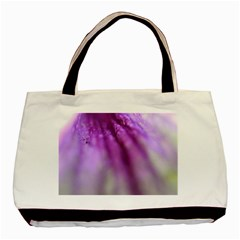 Purple Flower Pedal Basic Tote Bag (two Sides)
