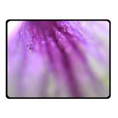 Purple Flower Pedal Fleece Blanket (small)