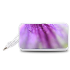 Purple Flower Pedal Portable Speaker (White)